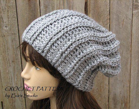 CROCHET PATTERN - Slouchy Hat d43780ba41d