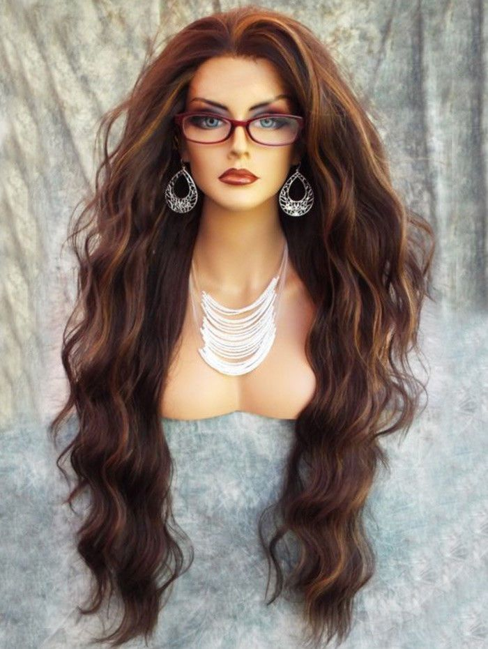 Womens Long Fluffy Natural Wavy Synthetic Wig Ladies Capless Full ... 6fe272e81b
