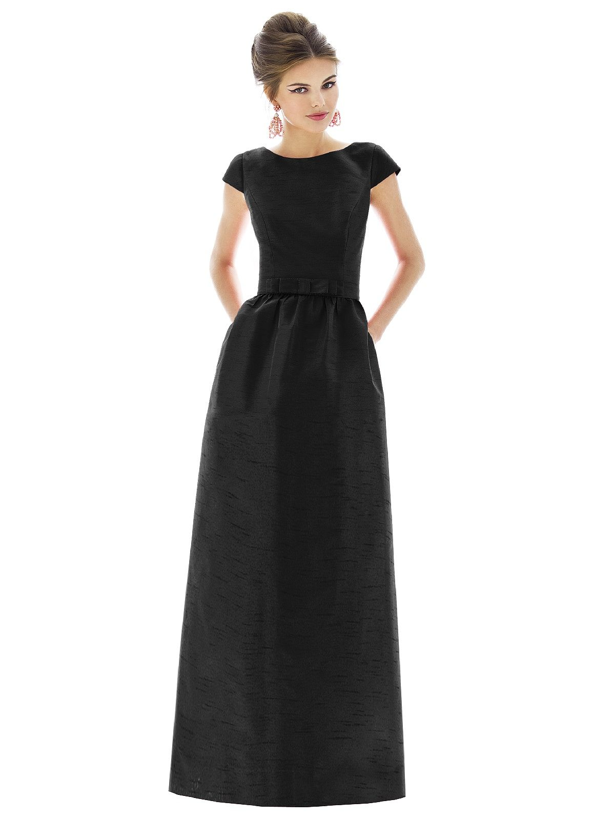 D571 dessy wedding pinterest alfred sung audrey d571 dessy cap sleeve bridesmaid dressblack tie bridesmaids dresseslong black dressesaudrey hepburn ombrellifo Image collections