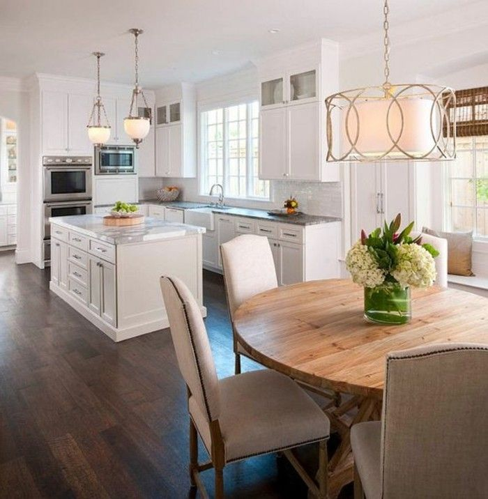 la plus originale table de cuisine ronde en 56 photos white kitchen cabinets kitchen remodel