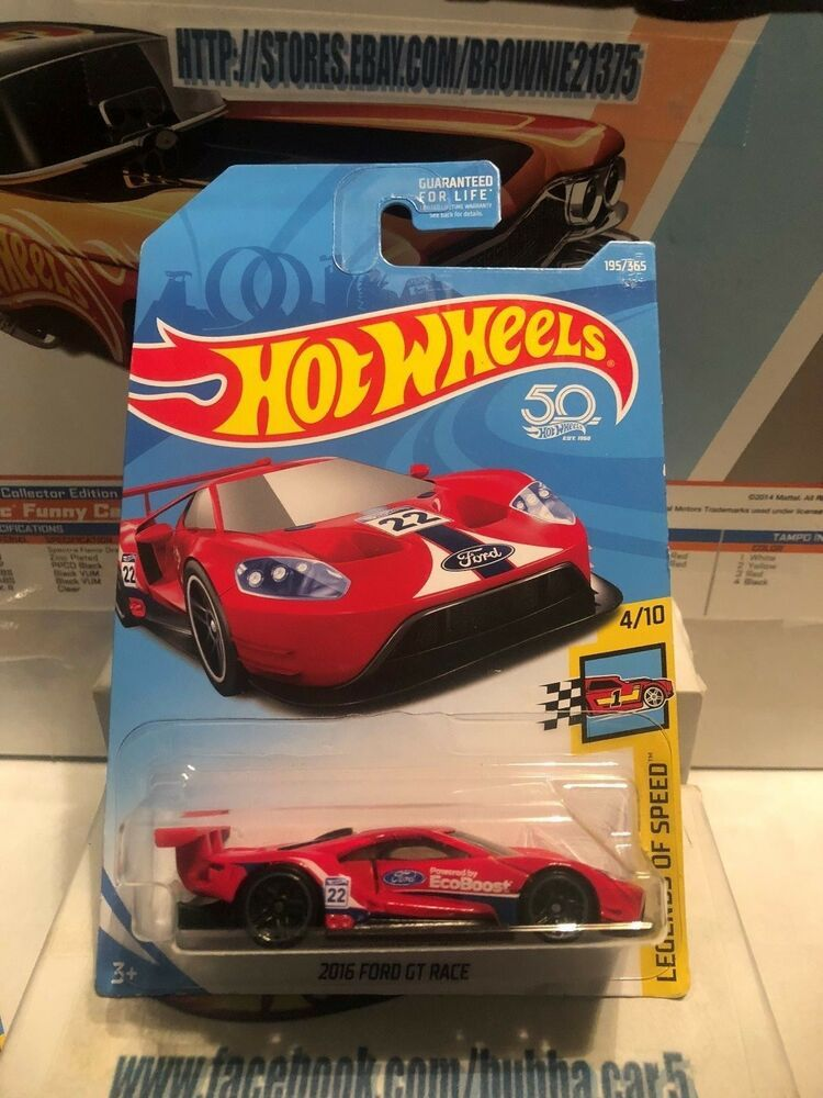 Hot Wheels 2016 Ford GT Race LEGENDS OF SPEED 4/10 RED