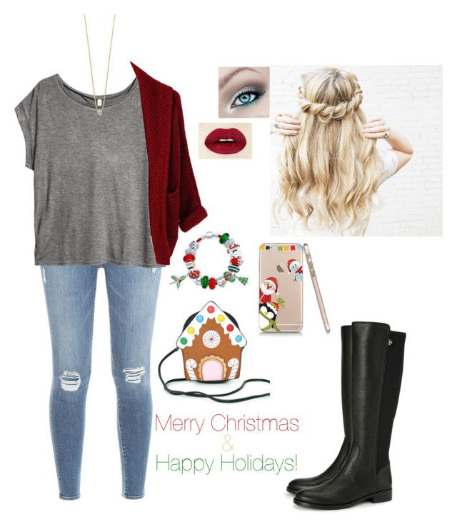"""""""Happy Holidays ❄⛄"""" by jmehta02 on Polyvore featuring Frame Denim, Bling Jewelry, H&M and Tory Burch"""