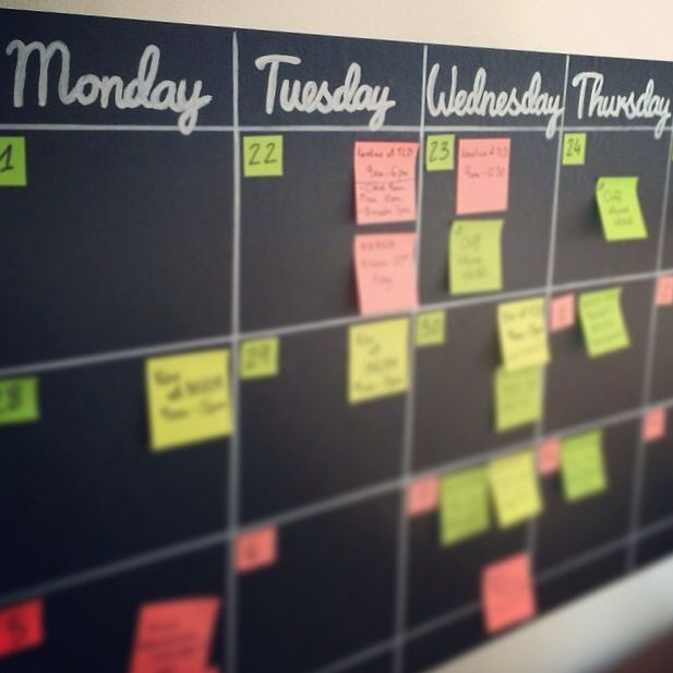 Diy Editorial Calendar : For editorial calendar wall adhesive