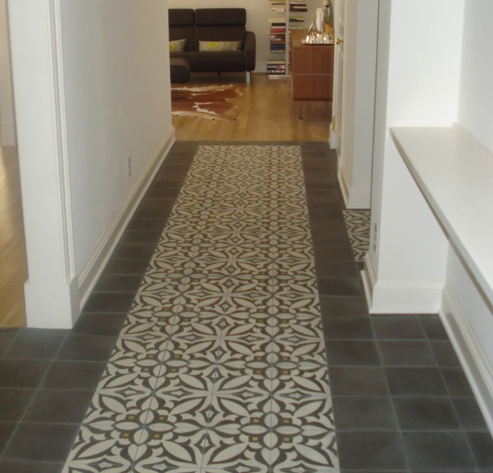 Patterned Cement Tiled Floor With Solid Border Cement Tile Cement Tile Shop Encaustic Cement Tile