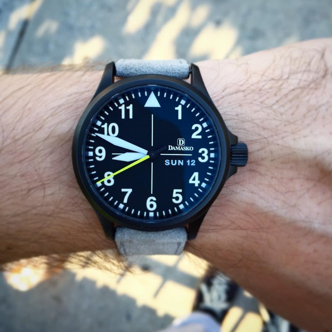 "worn&wound on Instagram: ""#Damasko da36 black this morning. Might be the  most legible watch ever made. #wornandwound #womw""   Damasko, Watches, Cool  watches"