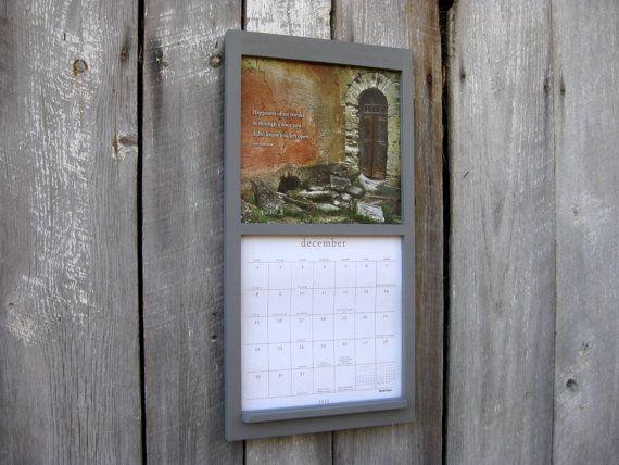 12 X 24 Calendar Frame Calendar Holder In Wood Painted Steel Medium Gray New Square Straight Line Design Mod Framed Calendar Hanging Calendar Calendar Holder
