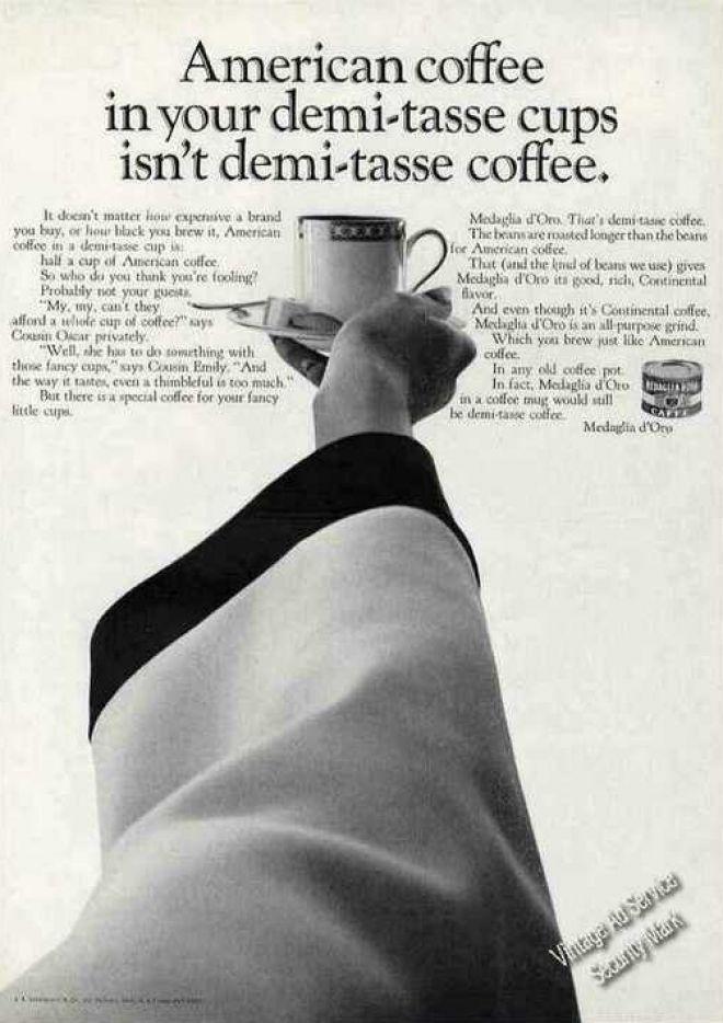 American Coffee Not Demi-tasse Medaglia D'oro (1966)