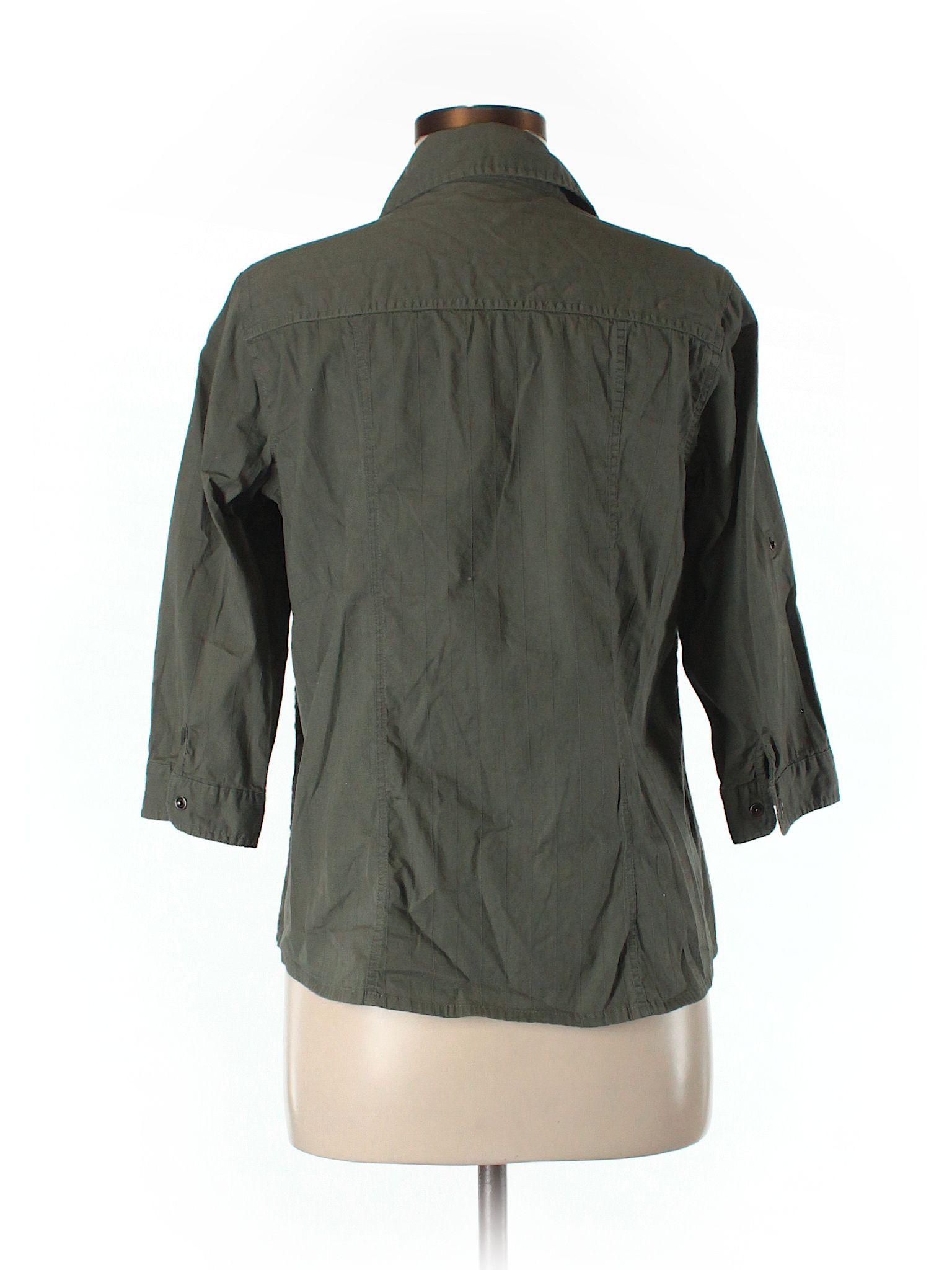 Dark green dress shirt  SONOMA life  style  Sleeve Button Down Shirt Dark Green Womenus