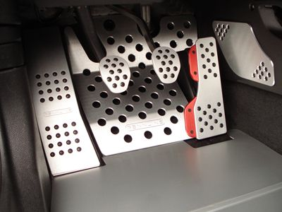 Rennline Pedal Set for 2007-2014 R55 R56 R57 R58 R59 MINI Cooper and Cooper S. These Aluminum pedals are cut perfectly to fit your MINI. As you can see they are aluminum with little rubber round dots to give you traction and style. <br /> <br />Set inlcudes: <br />Gas Pedal <br />Brake Pedal <br />Clutch Pedal <br />Dead Pedal <br %2...