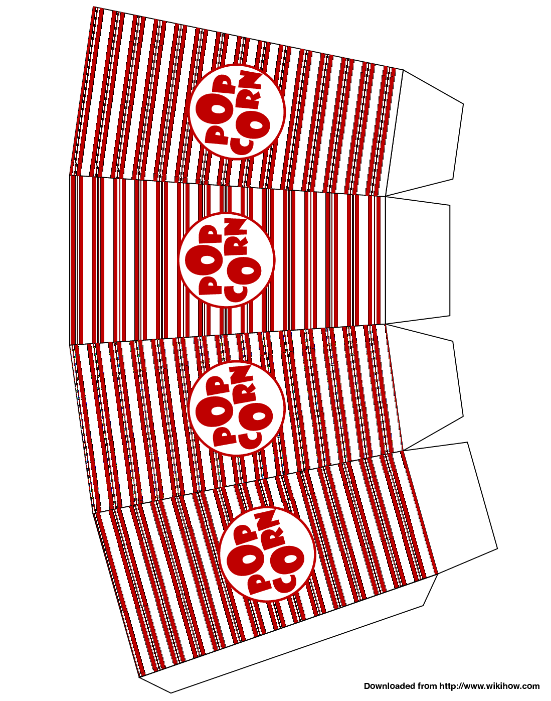 Box Falten Din A4 Make Popcorn Boxes Projects How To Make Popcorn Printable Box