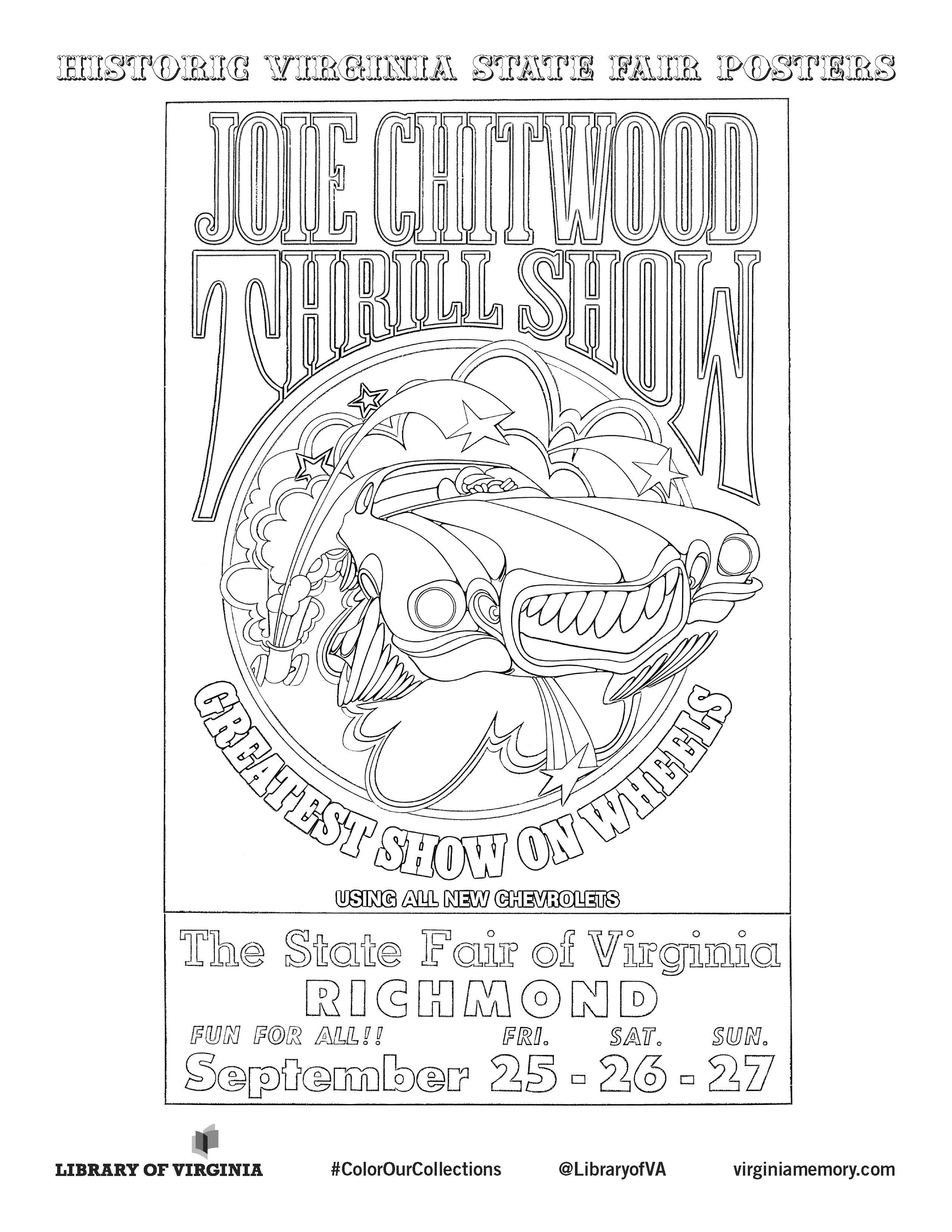Historic State Fair Poster #ColorOurCollection #coloring #