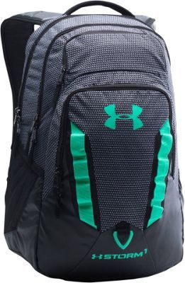 7ccb71a7b753 Under Armour Recruit Backpack Black White Green Breeze - via eBags.com!
