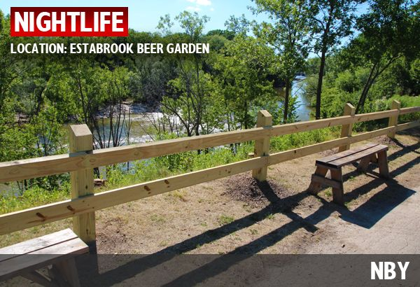 The view of the river at the Estabrook Park Beer Garden. by ...