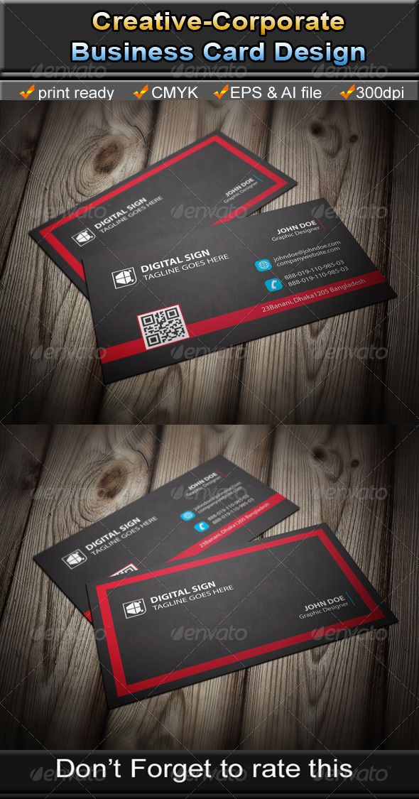 Corporate Business Card Printing business cards