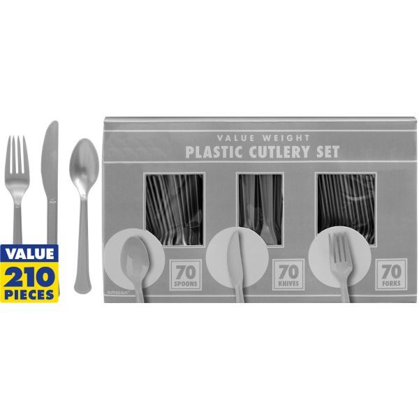 Silver Cutlery Set 210pc