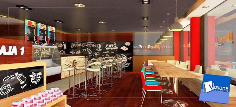 Dise o y decoraci n comercial de minimarket caf - Decoracion de cafeterias ...