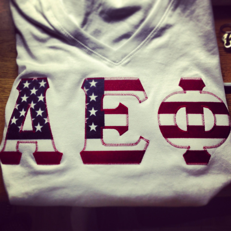 american flag aephi letters alpha epsilon phi