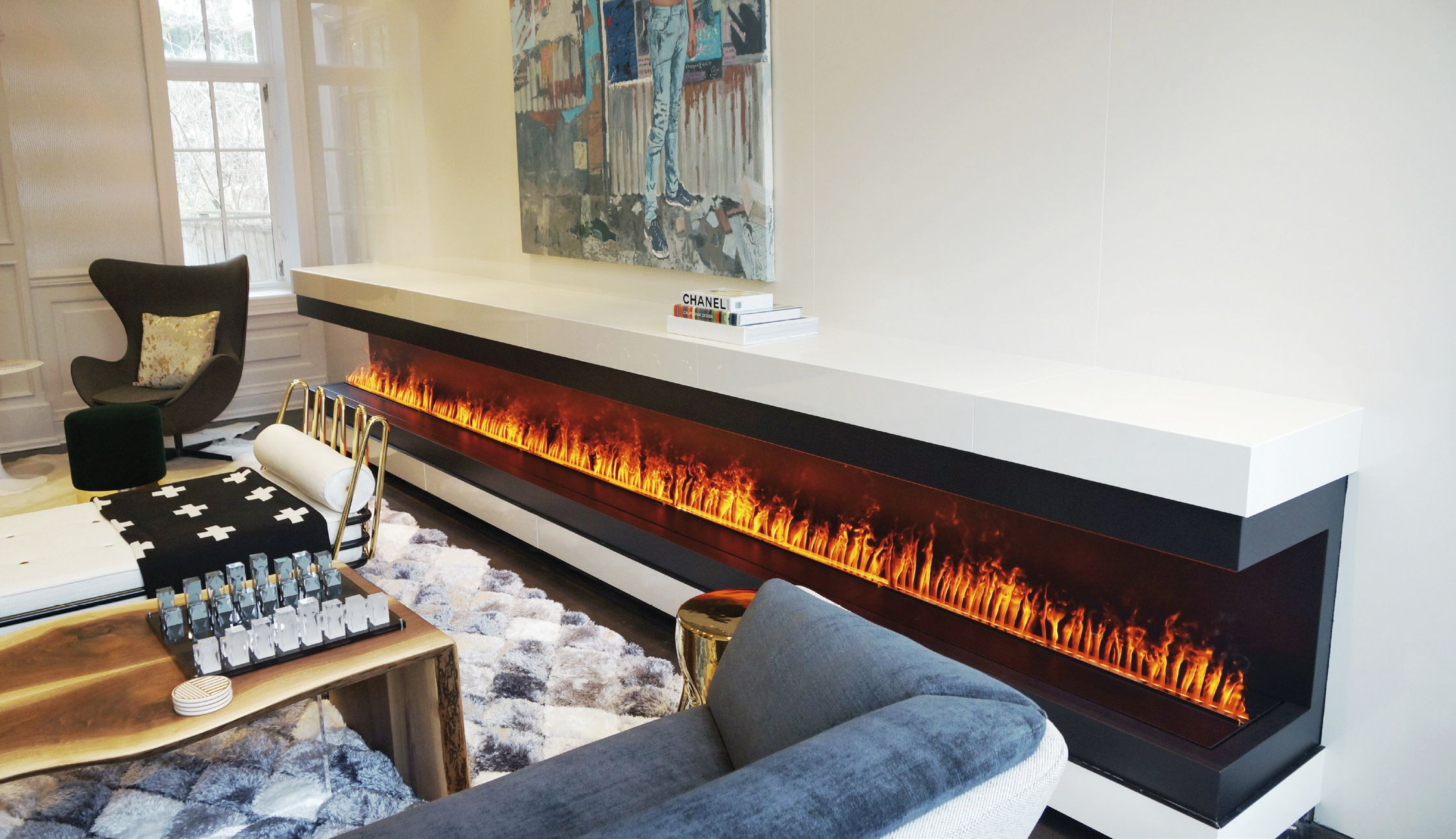 Optimyst Electric Real Flame Realistic Electric Fireplace