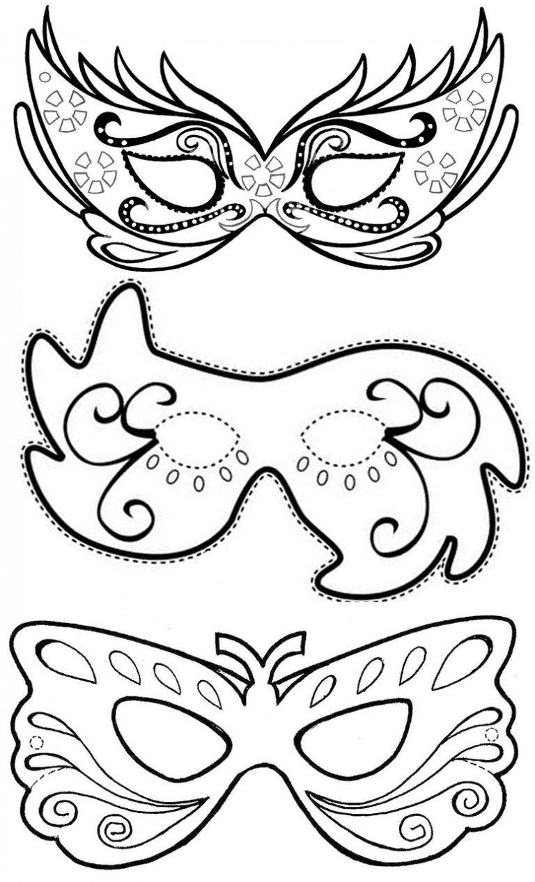 Mascara De Carnaval Moldes Para Fazer Colorir E Imprimir