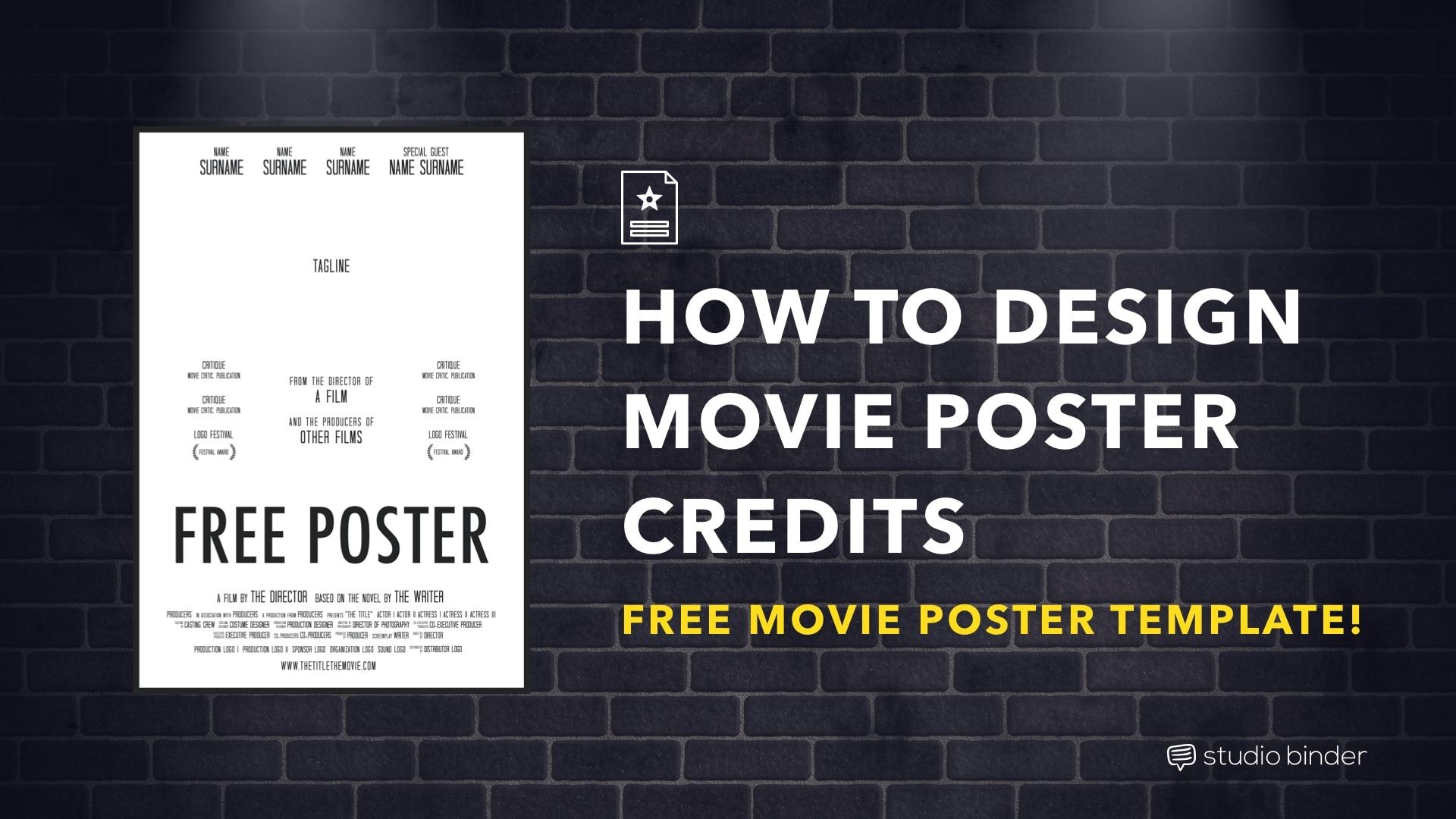 How To Make A Movie Poster Free Poster Template Movie Poster Template Poster Template Movie Poster Tutorial