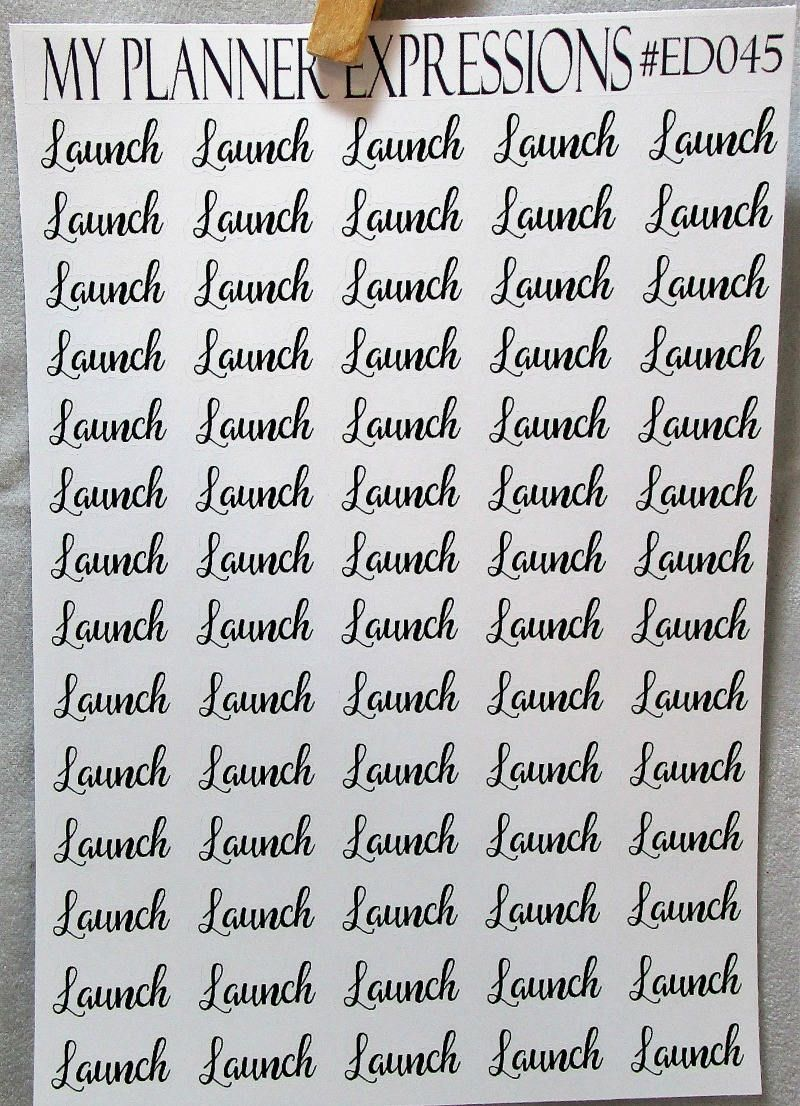 Launch Planner Stickers | Launch Planning Stickers | Etsy Shop Planner  Stickers | MAMBI Stickers |