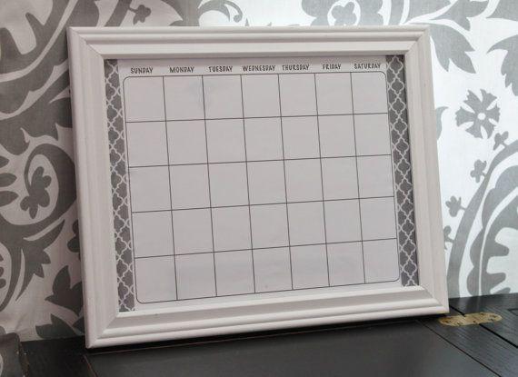 Dry Erase Calendar Framed Custom Colors By Magnoliamommymade 19 00