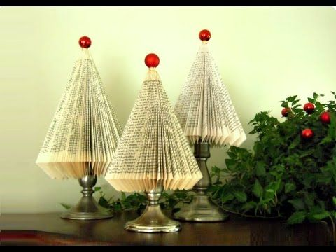 Immagini Natalizie Youtube.Albero Di Natale Con Un Libro Idee Per Natale Youtube Krea