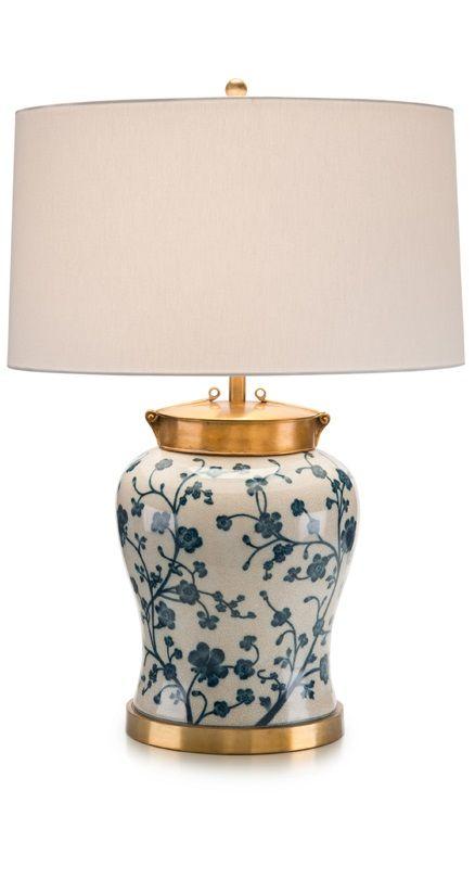 Ceramic Blue And White Lamp Abajur Lamba Vazolar