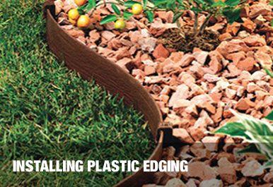 Installing Plastic Edging Lawn Edging Playground Landscaping Natural Landscaping