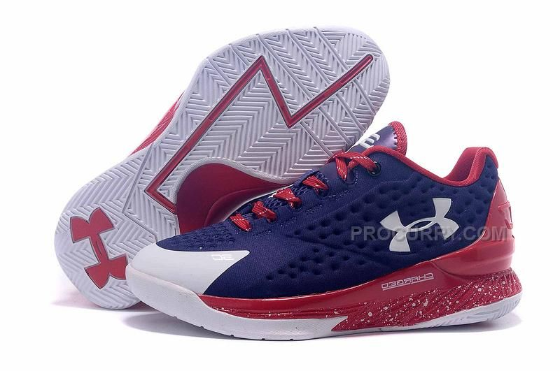 a1df611a4b Under Armour Womens UA Curry One Low 2015 Navy Blue Red White ...