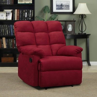 Brilliant Prolounger Microfiber Wall Hugger Recliner Red Handy Andrewgaddart Wooden Chair Designs For Living Room Andrewgaddartcom