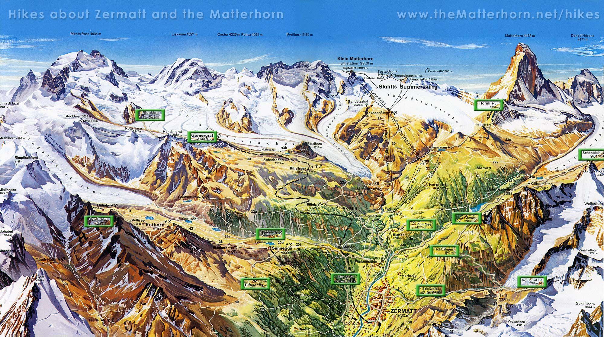 Zermatt Switzerland Map on