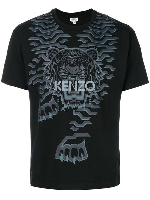 87227b636 Shop Kenzo Geo Tiger T-shirt. Geometric Tiger, Tiger Shirt, Cotton Shirts
