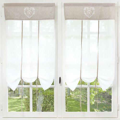 Tende A Vetro Maison Du Monde.Camille Rideau Court En Coton Ecru 60 X 110 Cm Home Decor In