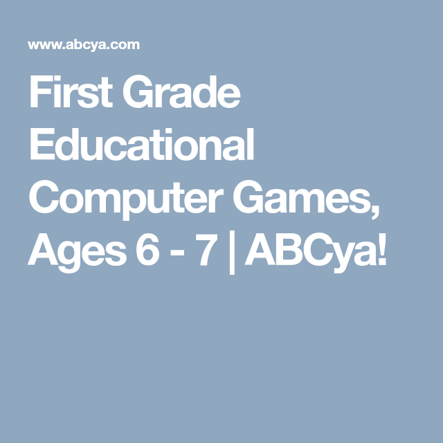 First Grade Educational Computer Games, Ages 6 - 7 | ABCya! | Gr 1 ...