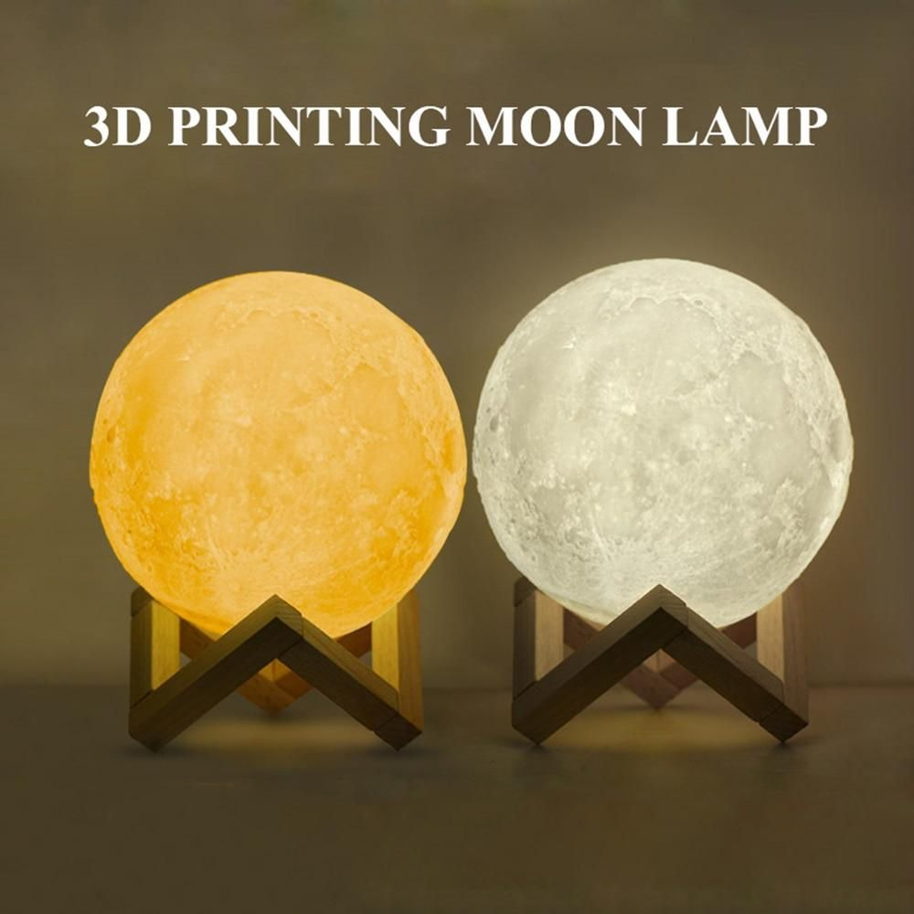 Custom 3d Photo Printed Moon Light Valentines Day Gifts Touch Lamp Lamp Best Valentine Gift