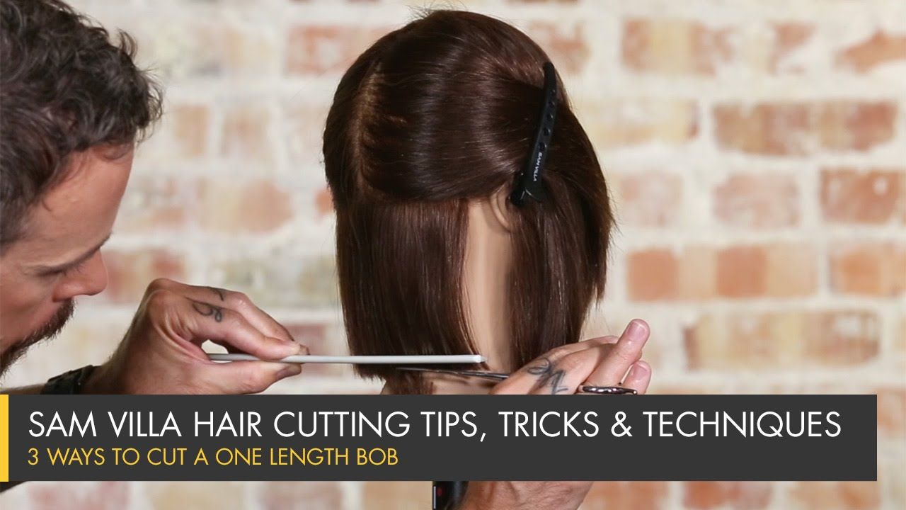 3 Ways To Cut A One Length Bob Haircutting Hairstyling How Tos