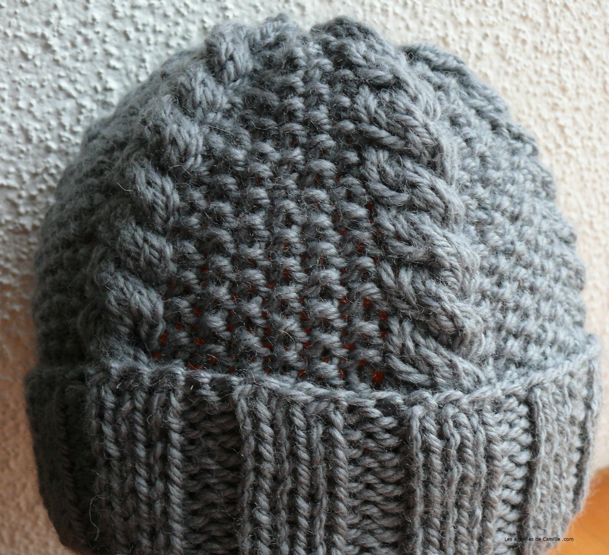 comment tricoter un bonnet avec des torsades   Tricot   Pinterest ... 608e08e66ee