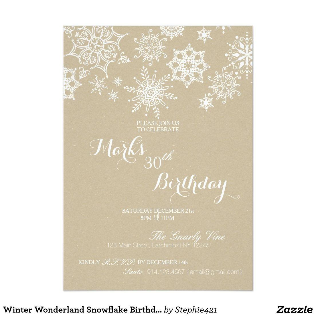 winter wonderland snowflake birthday