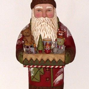 Buy Santa folk art in Denver at the Frame by Frame gallery in Lowry Town Center