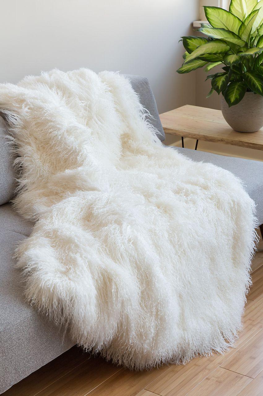 Polar Dreams Tibetan Lamb Fur Throw Blanket Fur Throw Blanket Throw Blanket Fur Throw