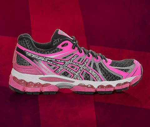 Asics Women S Gel Nimbus 15 Lite Show Running Shoes In Pink Black