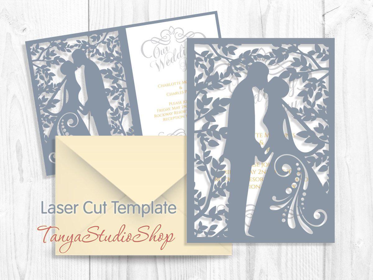 Wedding invitation - SVG, DXF, ai, CRD, eps, studio3 - Commercial ...