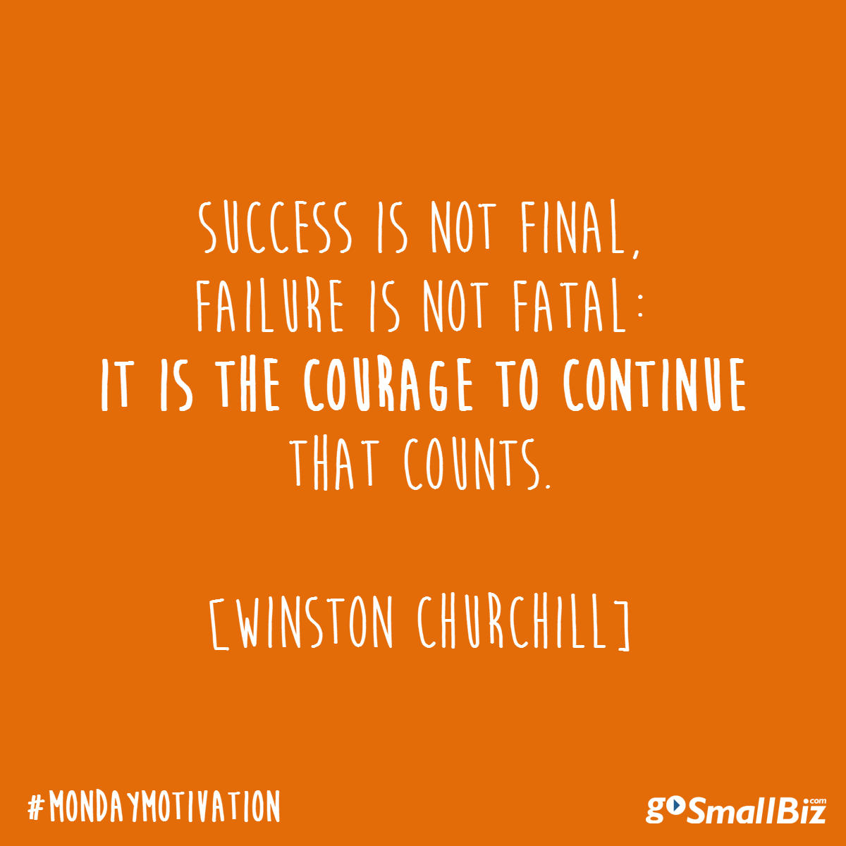 In other words- never, never, never give up. #quote #Churchill #success #leadership