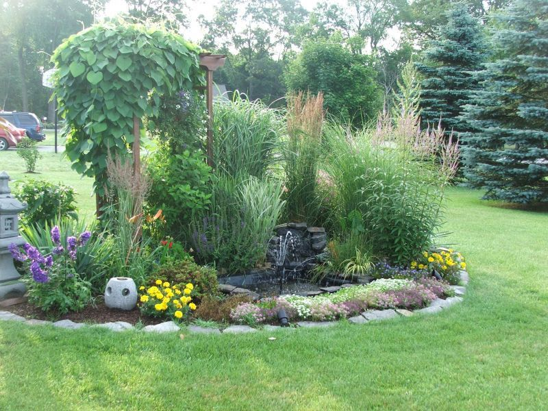 Focal Point Colorful Landscaping Beautiful Gardens