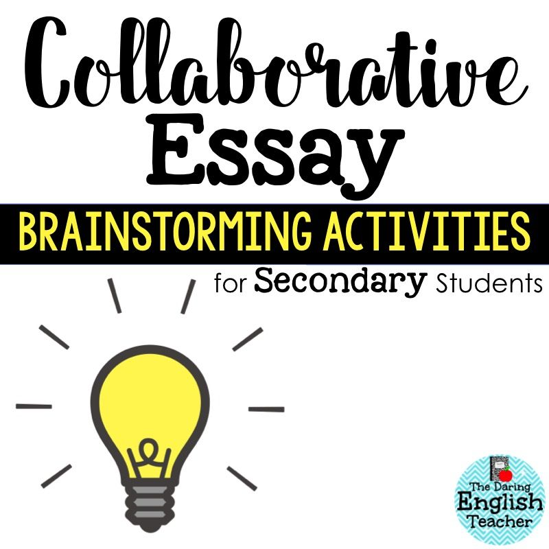 Collaborative Teaching Methods Pdf ~ Collaborative essay brainstorming strategies for secondary