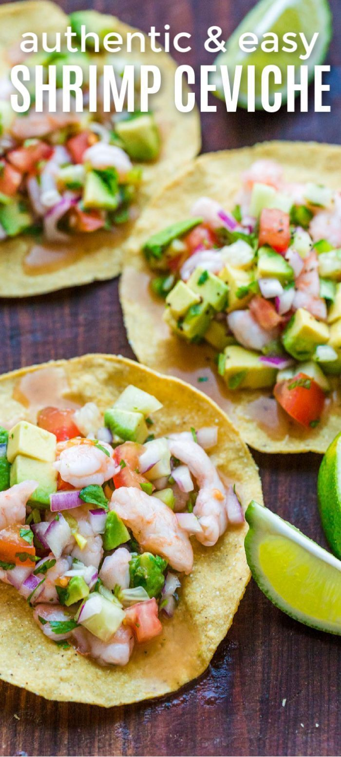 Ceviche Recipe -  Ceviche is loaded with shrimp, avocados, tomatoes and cucumbers; all marinated in