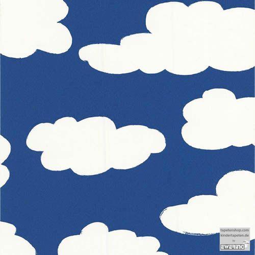 Kinderzimmer Muster Tapete Wolken Himmel Kinderzimmer