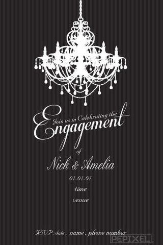 Engagement Invitations - Evening Glitz Engagement invitation - engagement invite templates