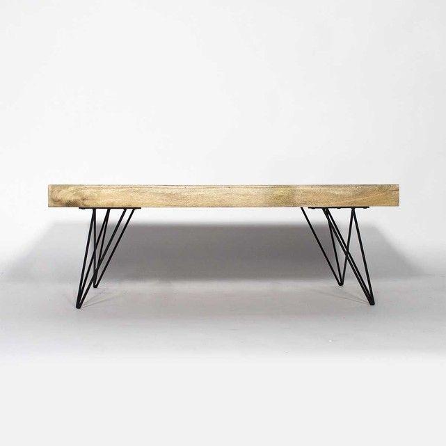table basse bois metal style scandinave | bt0278x | metals